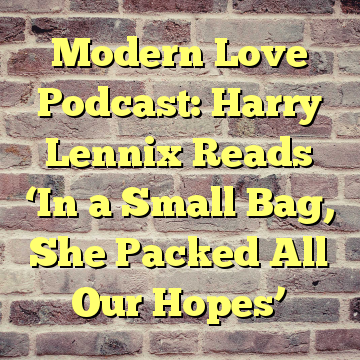 Modern Love Podcast: Harry Lennix Reads 'In a Small Bag, She Packed All Our Hopes'