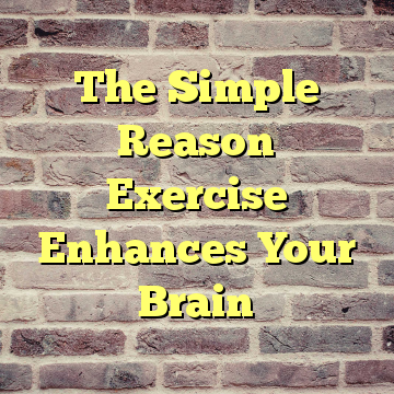 The Simple Reason Exercise Enhances Your Brain
