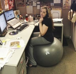 using a stability ball to improve posture
