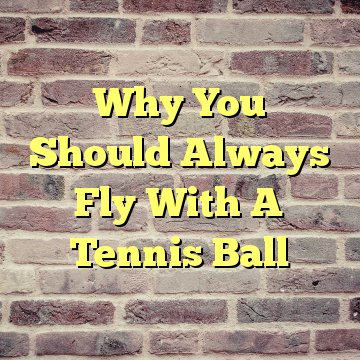Why You Should Always Fly With A Tennis Ball