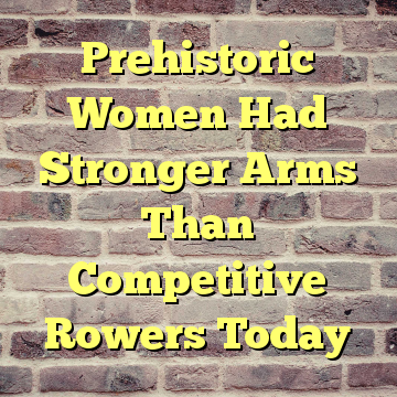 Prehistoric Women Had Stronger Arms Than Competitive Rowers Today